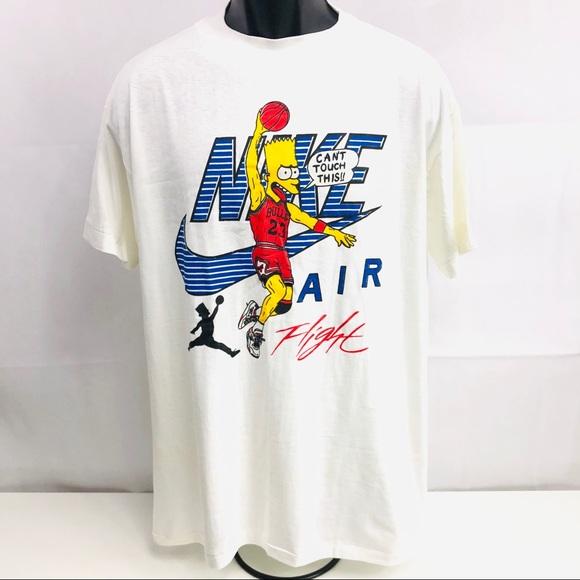 bfb076158bd927 Rare Vintage Nike Air Jordan Bart Simpson T-Shirt.  M 5bf22c4adf0307f492a60464